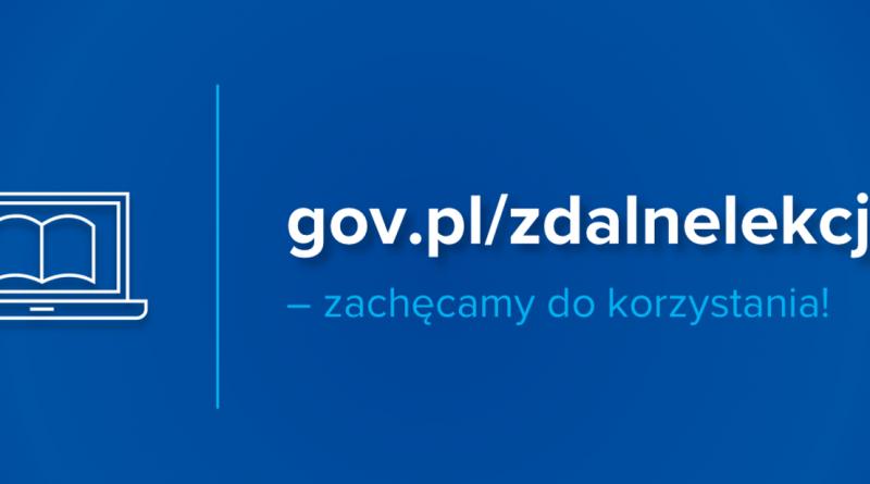 Baner portalu edukacyjnego gov.pl/zdalnelekcje