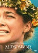 """Okładka filmu pt. """"Midsommer"""" - twarz zapłakanej młodej dziewczyny w wianku na głowie."""