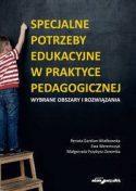 """Zdjęcie okładki książki, pt. """"Specjalne potrzeby edukacyjne w praktyce pedagogicznej """" - stojący na małej drabince chłopiec pisze z trudem kredą na tablicy"""