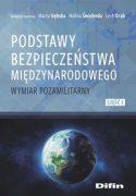"""Zdjęcie okładki książki, pt."""" Podstawy bezpieczeństwa międzynarodowego : wymiar pozamilitarny"""" - ziemia widziana z kosmosu."""