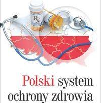 Zdjęcie okładki książki: na tle mapy Polski rozrzucony stetoskop i fiolki lekarstw