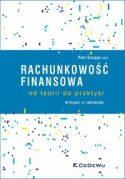 """Zdjęcie okładki książki, pt. """"Rachunkowość finansowa"""" - konstelacja różnokolorowych kropek i kresek na białym tle."""