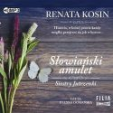 Zdjęcie okładki audiobooka: motyl i kwiaty polne na tle deski drewnianej.
