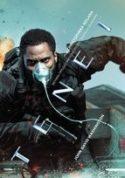 Okładka płyty DVD - mężczyzna w masce tlenowej na twarzy i z pistoletem w ręce biegnie przed siebie.