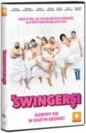 """Zdjęcie z okładki filmu """"Swingersi - komedia o miłosnych manewrach"""" - wiele obnażonych ciał kobiet i mężczyzn, leżących w jednym łożu, przykrytych jedynie białym prześcieradłem."""