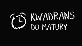 Baner informacyjny z tekstem: Kwadrans do matury.