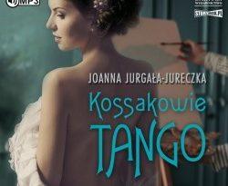 """Zdjęcie okładki audiobooka, pt. """"Kossakowie tango"""" - półnaga piękna młoda kobieta pozuje do aktu malarzowi."""