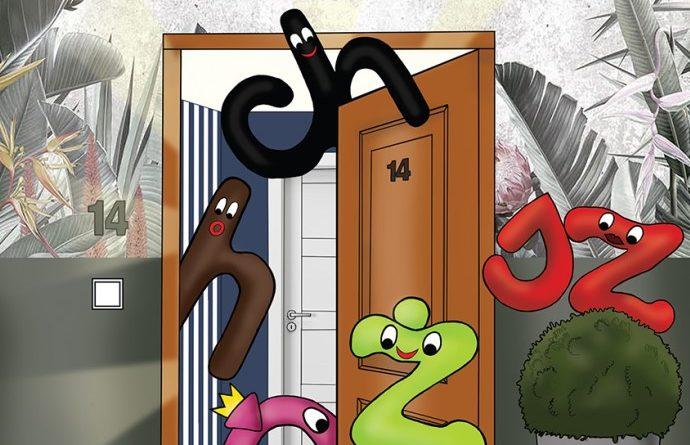 """Zdjęcie okładki książki, pt.""""Moi przyjaciele z Literkowa w domu : podręcznik do programu nauczania ortografii w klasach I-III """"."""