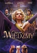 """Zdjęcie okładki filmu, pt. """"Wiedźmy"""" - demoniczna kobieta z uniesionymi rękami stoi nad gromadą małych myszek."""