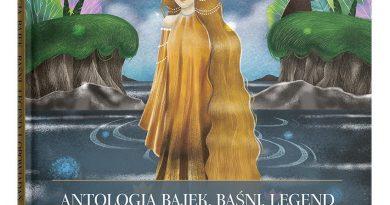 Bajkowa postać księżniczki stojącej w wodzie w leśnej scenerii