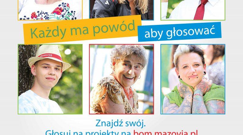 Plakat propagujący Budżet Obywatelski Mazowsza