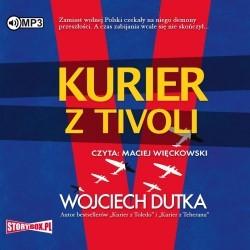 "Okładka audiobooka, pt. ""Kurier z Tivoli"""
