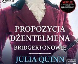 """Okładka audiobooka, pt. """"Propozycja dżentelmena"""""""